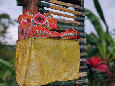 Balinese Offerings at Jatiluwih Rice Terrace