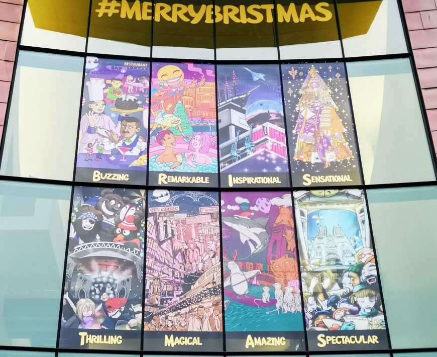 MerryBristmas Mural at Colston Hall, Bristol