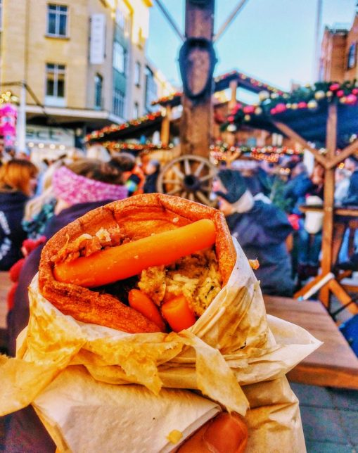 Yorkshire Pudding Wrap at Bristol Christmas Market