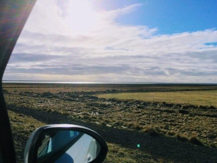 Views from the car window in Iceland