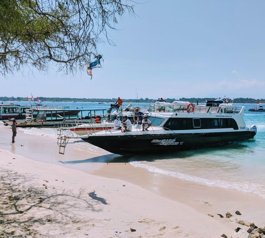 Blue Water Express Boat, Gili Meno