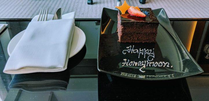 Chocolate Honeymoon Cake at Taj Dubai
