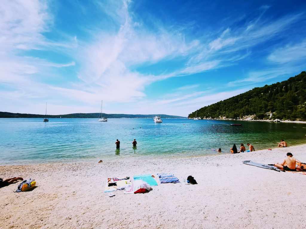 Kasjuni Beach in Split, Croatia