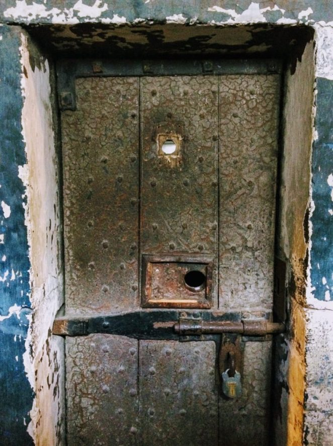 Prison cell door in Kilmainham Gaol, Dulbin
