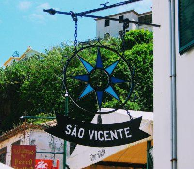 Sao Vicente sign in Madeira