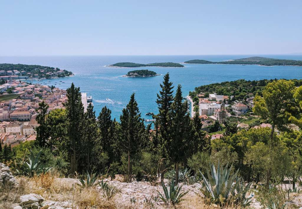 Views from Hvar fortress in Croatia