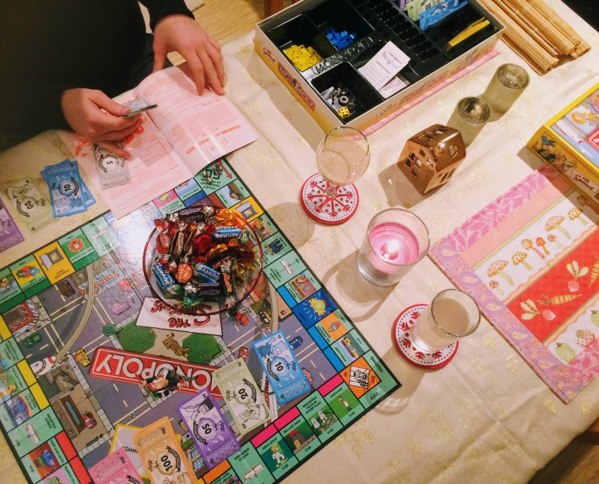 Playing board games as a couple