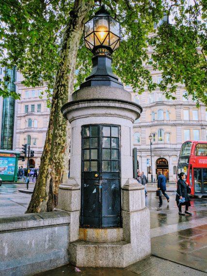 Britain's smallest police station in Trafalgar Square, London