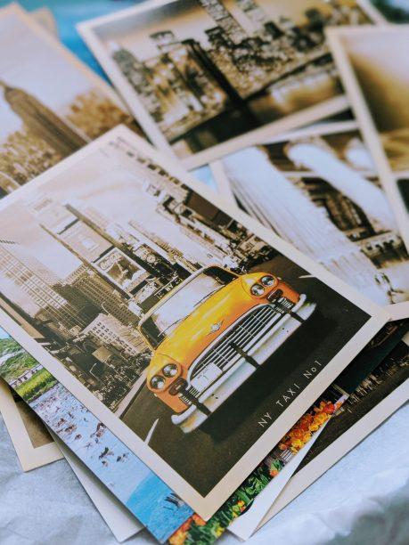 DIY Travel Themed Wedding - Vintage Postcards