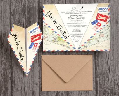 Paper Plane Wedding Invitations