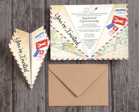 Paper Plane Wedding Invitations