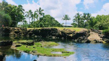 Keaukaha Beach Park near Hilo Hawaii
