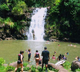 Waimea Waterfall Hawaii - Lost Filming Location