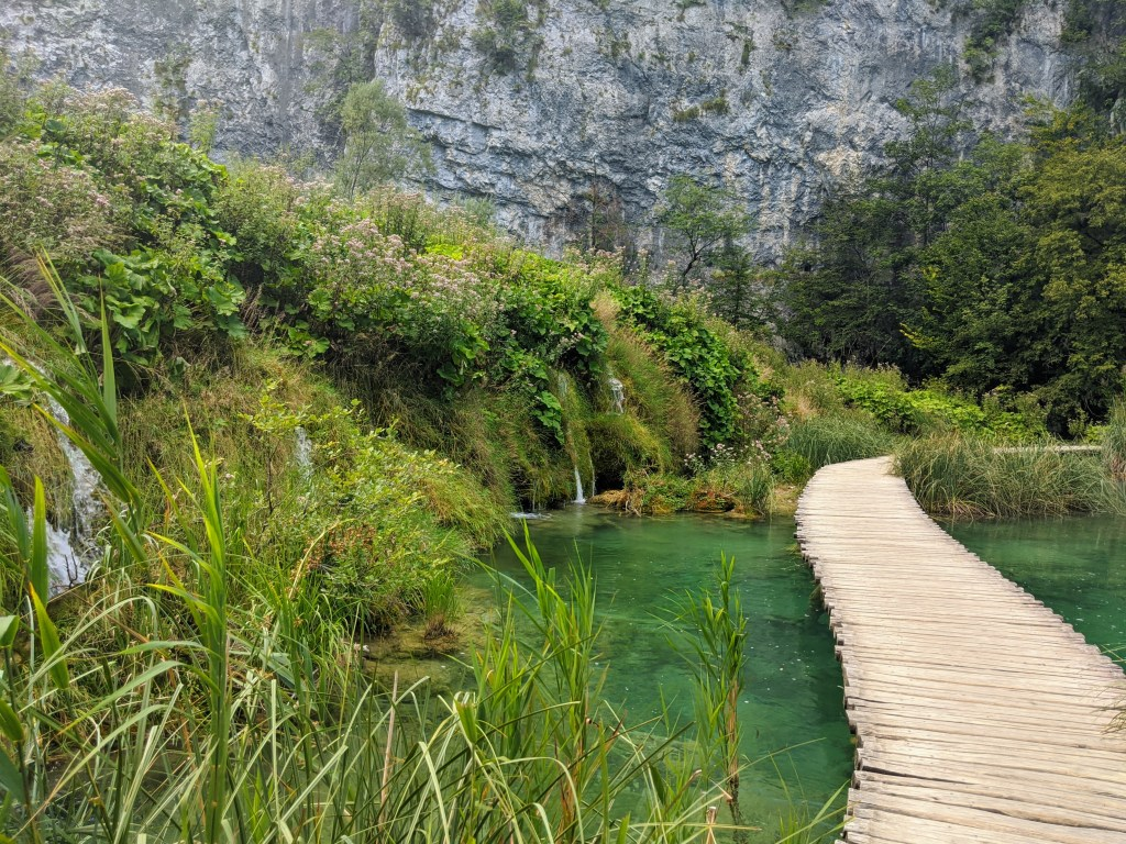 Wooden walkways at Plitvice Lakes