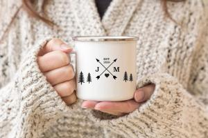 Couples Travel Gift Matching Coffee Mugs