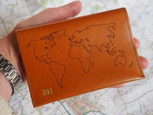 Personalised passport holder for men