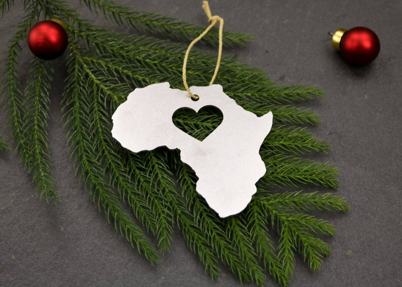 Travel Themed Christmas Ornament - Africa