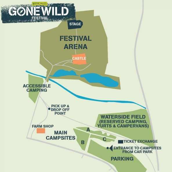 gone wild festival map