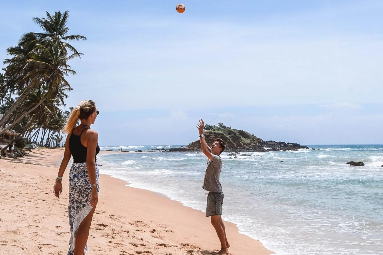 Wanderers & Warriors - Charlie & Lauren UK Travel Couple - Things To Do In Mirissa Beach Parrot Rock Mirissa Guide