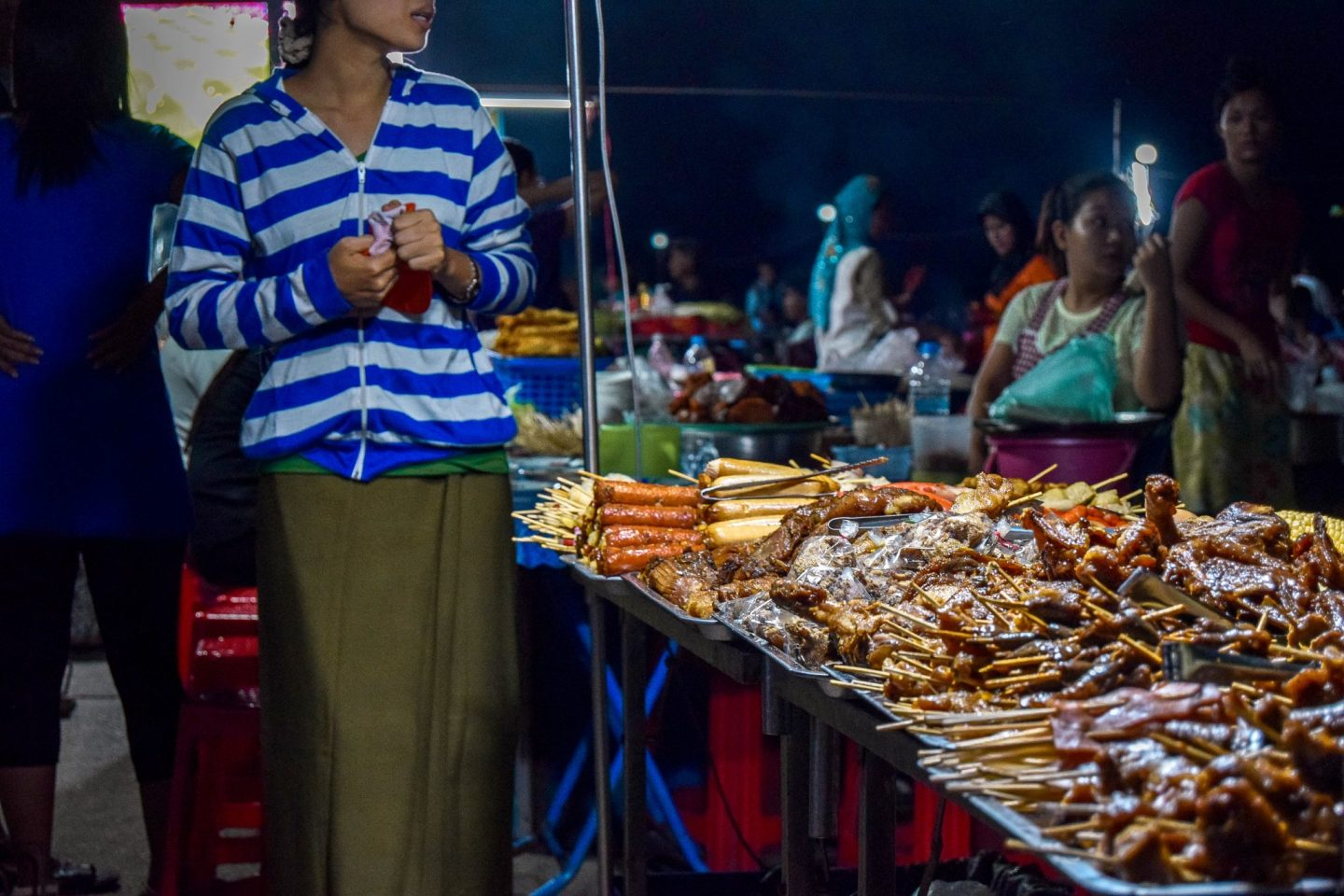 Wanderers & Warriors - Why To Visit Mawlamyine & Hpa An In Myanmar - Street Food Night Market