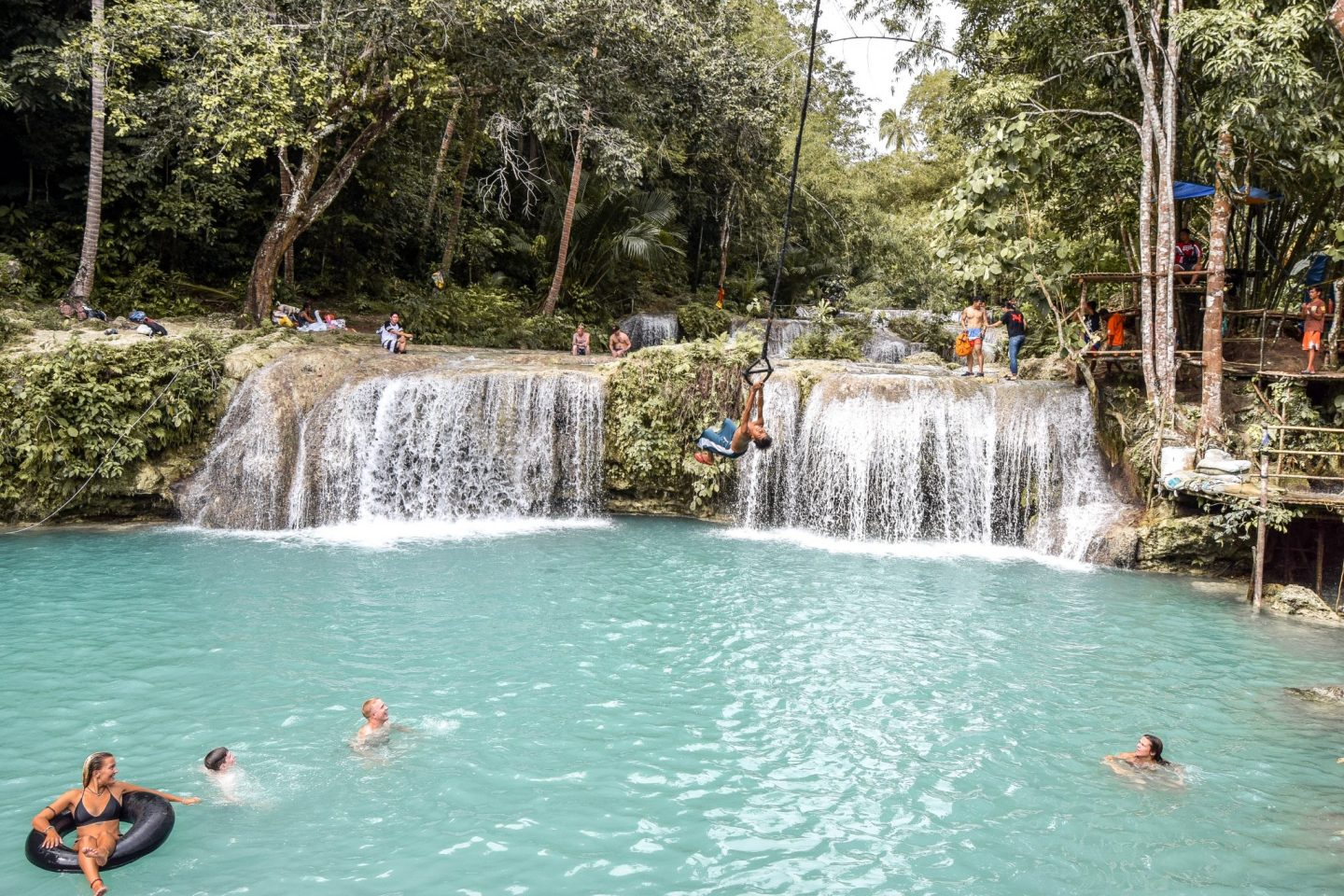 Wanderers & Warriors - Charlie & Lauren UK Travel Couple - Cambugahay Falls Siquijor tourist spots - Things To Do In Siquijor Island