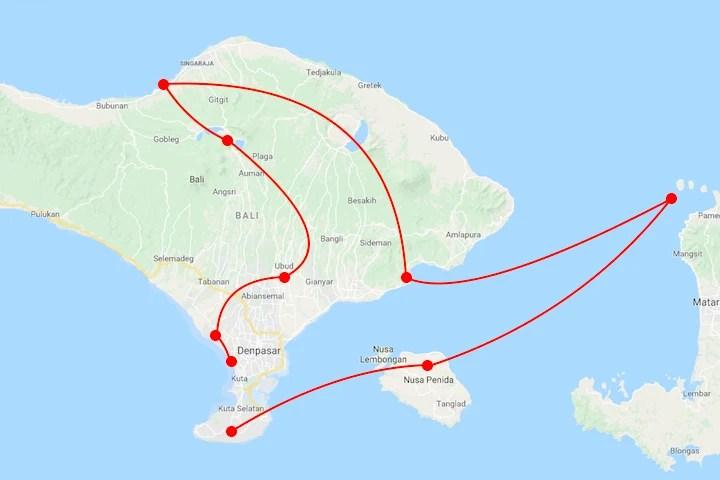 Wanderers & Warriors - Bali Itinerary - Where To Go In Bali