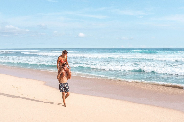 Wanderers & Warriors - Charlie & Lauren UK Travel Couple - Shipwreck Nyang Nyang Beach Bali - Uluwatu Beaches