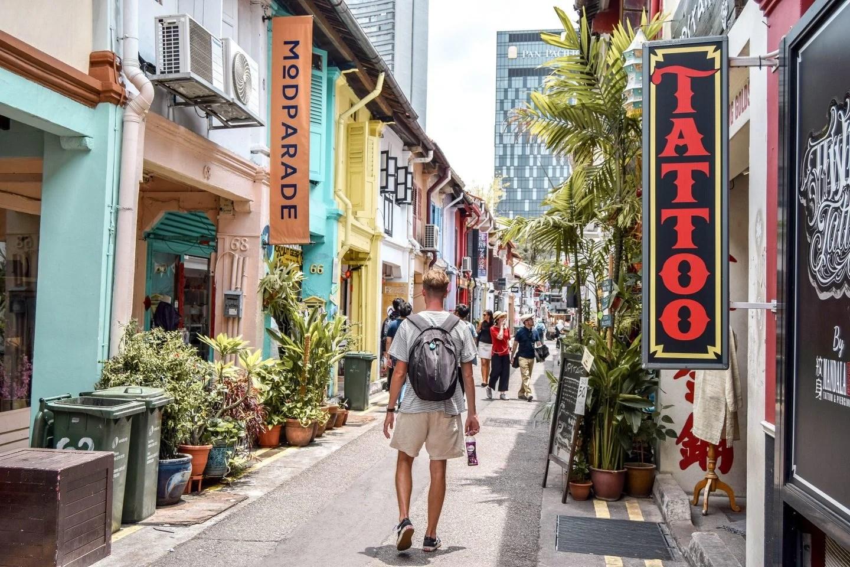 Wanderers & Warriors - Charlie & Lauren UK Travel Couple - Haji Lane - Best Things To Do In Singapore Itinerary