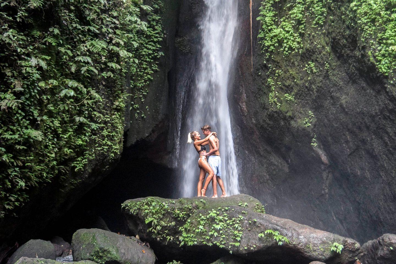 Wanderers & Warriors - Charlie & Lauren UK Travel Couple - Leke Leke Waterfall Bali - An Awesome Day Trip - Bali Waterfalls - Best Waterfalls In Bali - Waterfalls Near Ubud