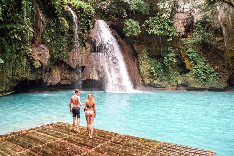 Wanderers & Warriors - Charlie & Laure UK Travel Couple - The Best Philippines Waterfalls - Our Top 5 - Kawasan Falls Cebu
