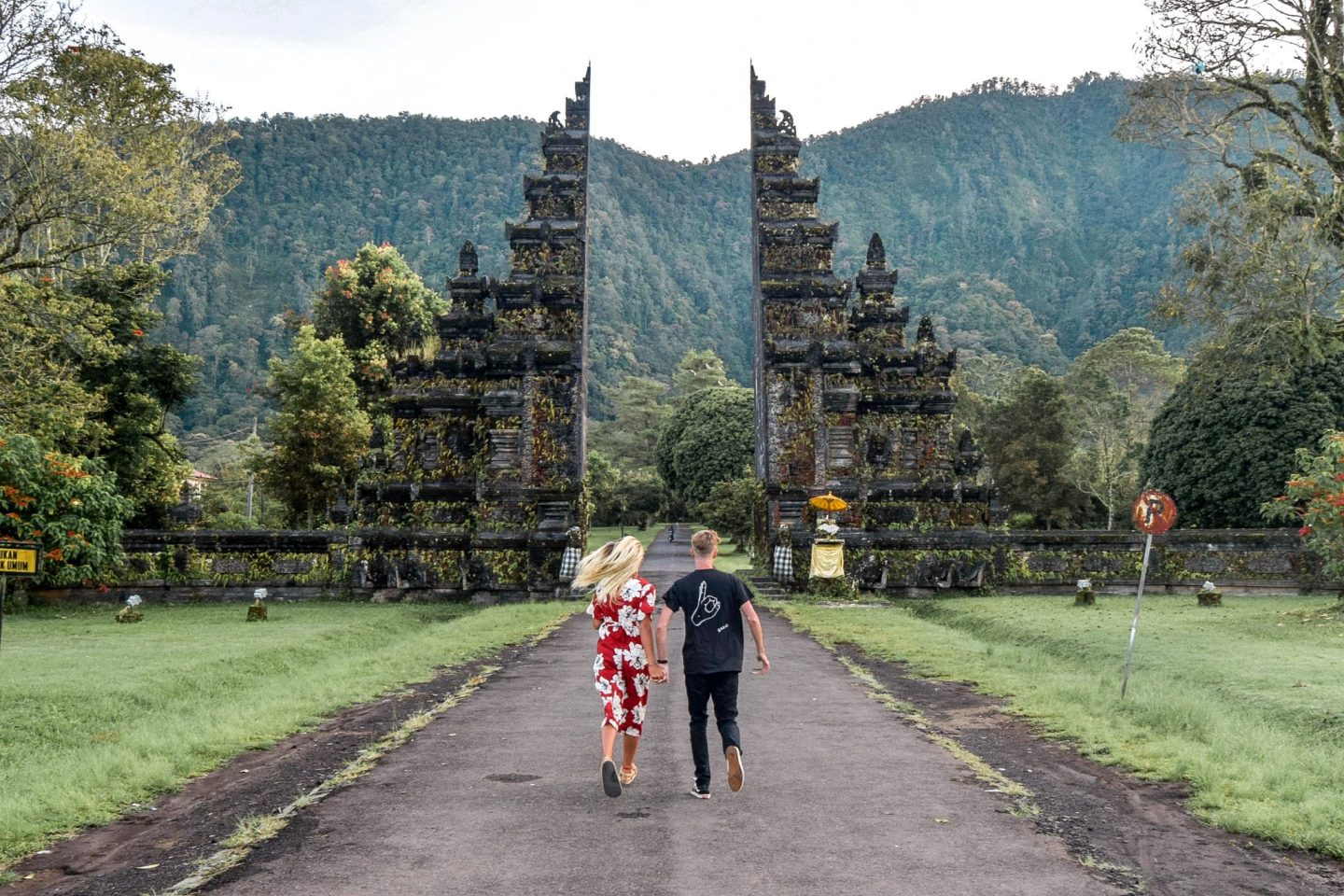 Wanderers & Warriors - Charlie & Lauren UK Travel Couple - The Famous Bali Gates - Handara Golf & Resort