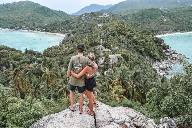Wanderers & Warriors - Charlie & Lauren UK Travel Couple - John Suwan Viewpoint Koh Tao Viewpoint Koh Tao Viewpoints - things to do on koh tao