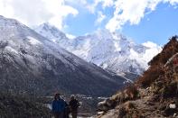 Mt Kangtega in the Background