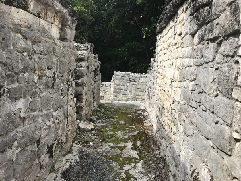 Inside the Castillo at Xel-Ha Ruins.