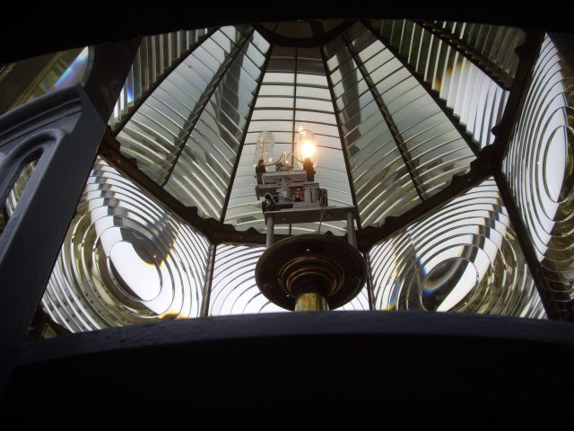 The working Fresnel lens at Heceta Head