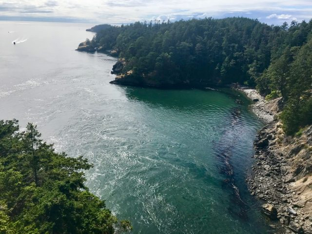 Deception Pass. View from the bridge
