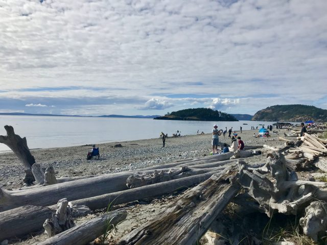 Beach at West Point in Deception Pass State Park Washington