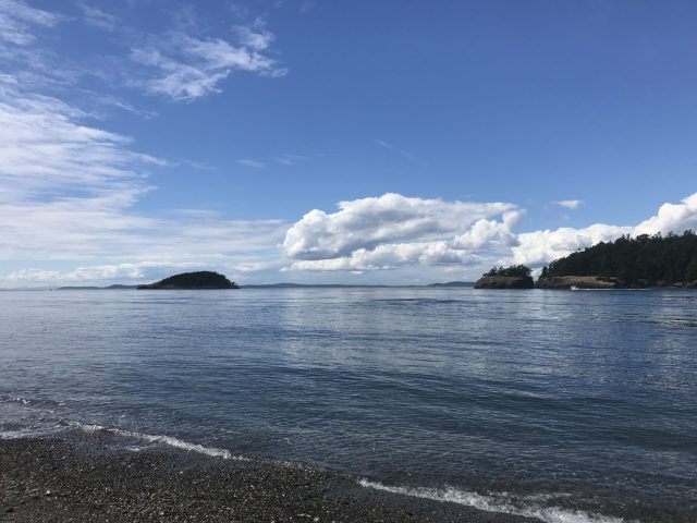 Ocean view from the North Beach of Deception Pass State Park