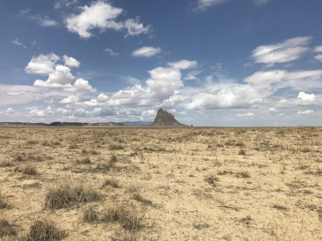 Shiprock, the lone rock in the middle of the desert