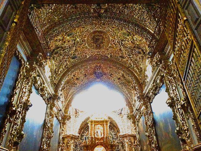 Capilla de Los Rosario Church of Santo Domingo Puebla