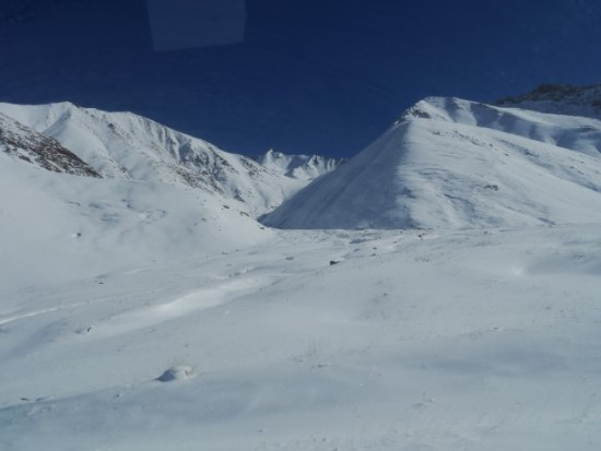 This is what snow looks like in Kyrgyzstan