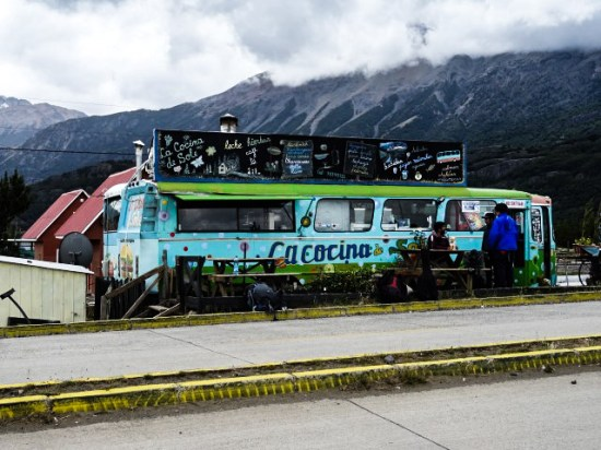 La Cocina de Soledad - two buses stuck together to make a little cafe doing great homemade burgers.