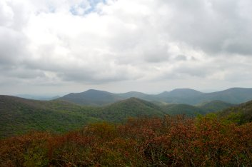 A view of the Standing Indian range along the trail