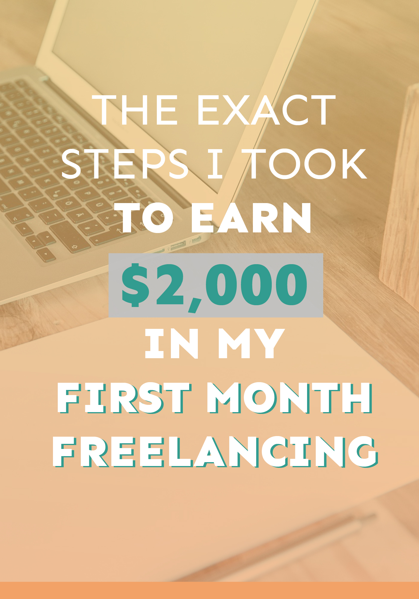 Want to know how I learnt $2,000 in my VERY FIRST month freelancing? I go through it step by step!