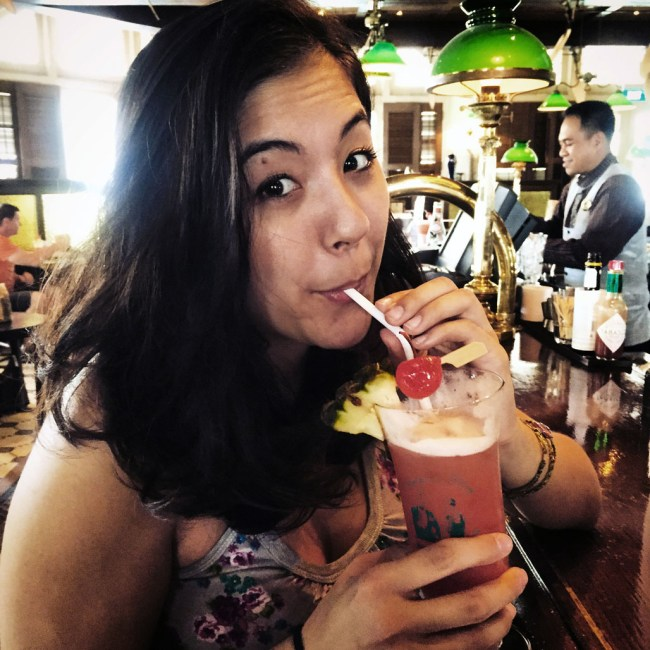 I drink a Singapore Sling