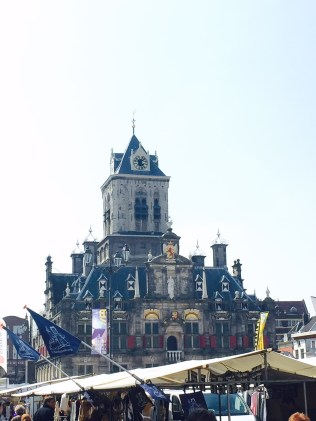 Delft City Hall and market
