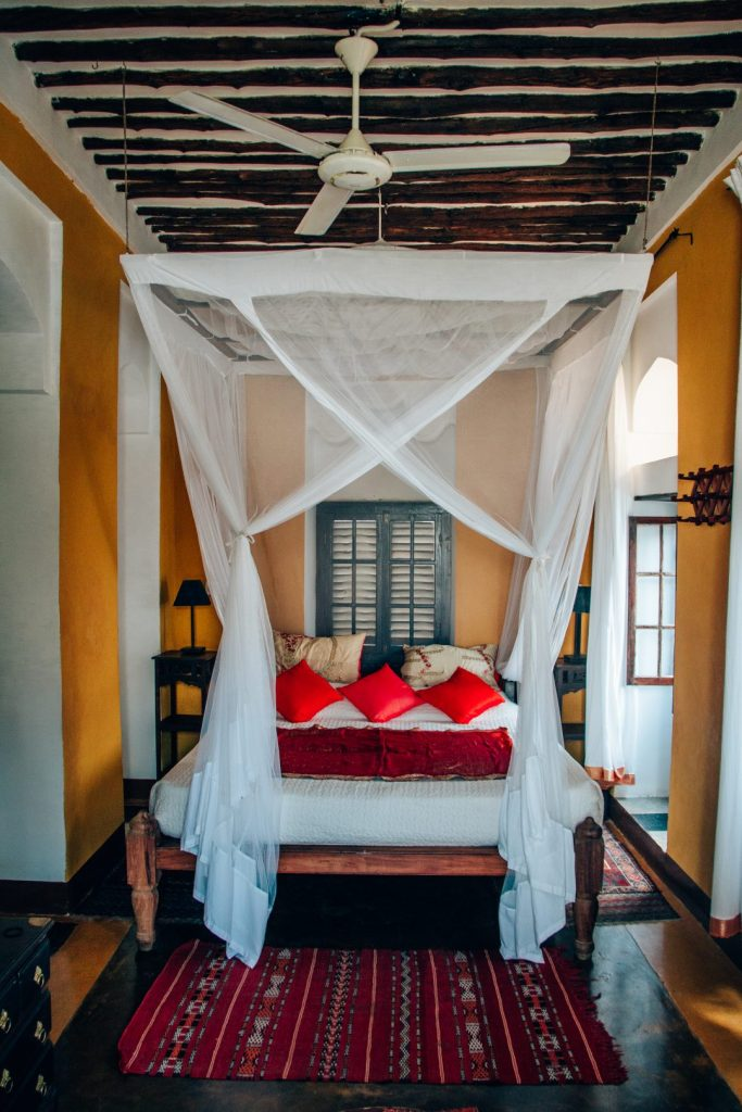 Kholle House, Zanzibar, bedroom, stonetown, Princess, boutique hotel