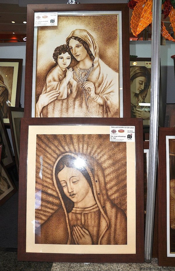 These artworks use pyrography or wood burning (according to Amphy).