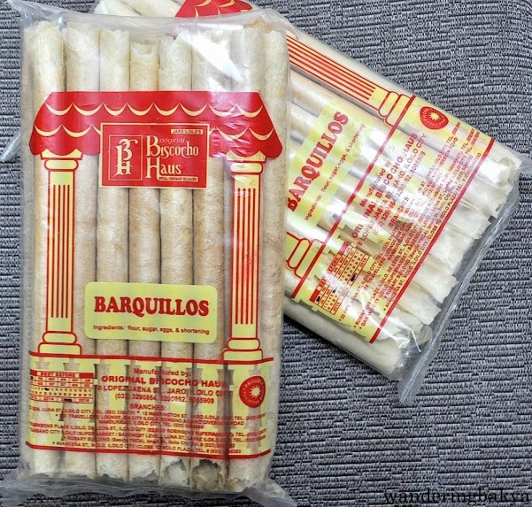 Barquillos. Its ingredients are flour, sugar, eggs and shortening. Barquillos are perfect on their own or with ice cream.