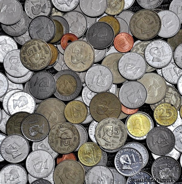 Coins are scattered around the house to ensure financial gain